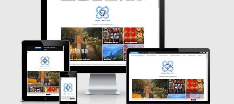 Realizacja projektu strony internetowej dla happy-barcelona.pl