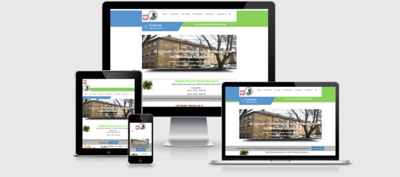 Realizacja projektu strony internetowej dla lo3.szczecin.pl