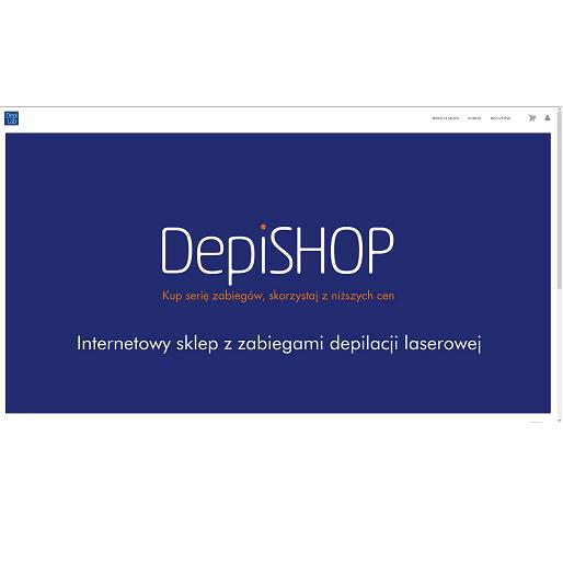 projekt strony intenetowej sklep.depilab.pl