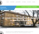 projekt strony intenetowej lo3.szczecin.pl