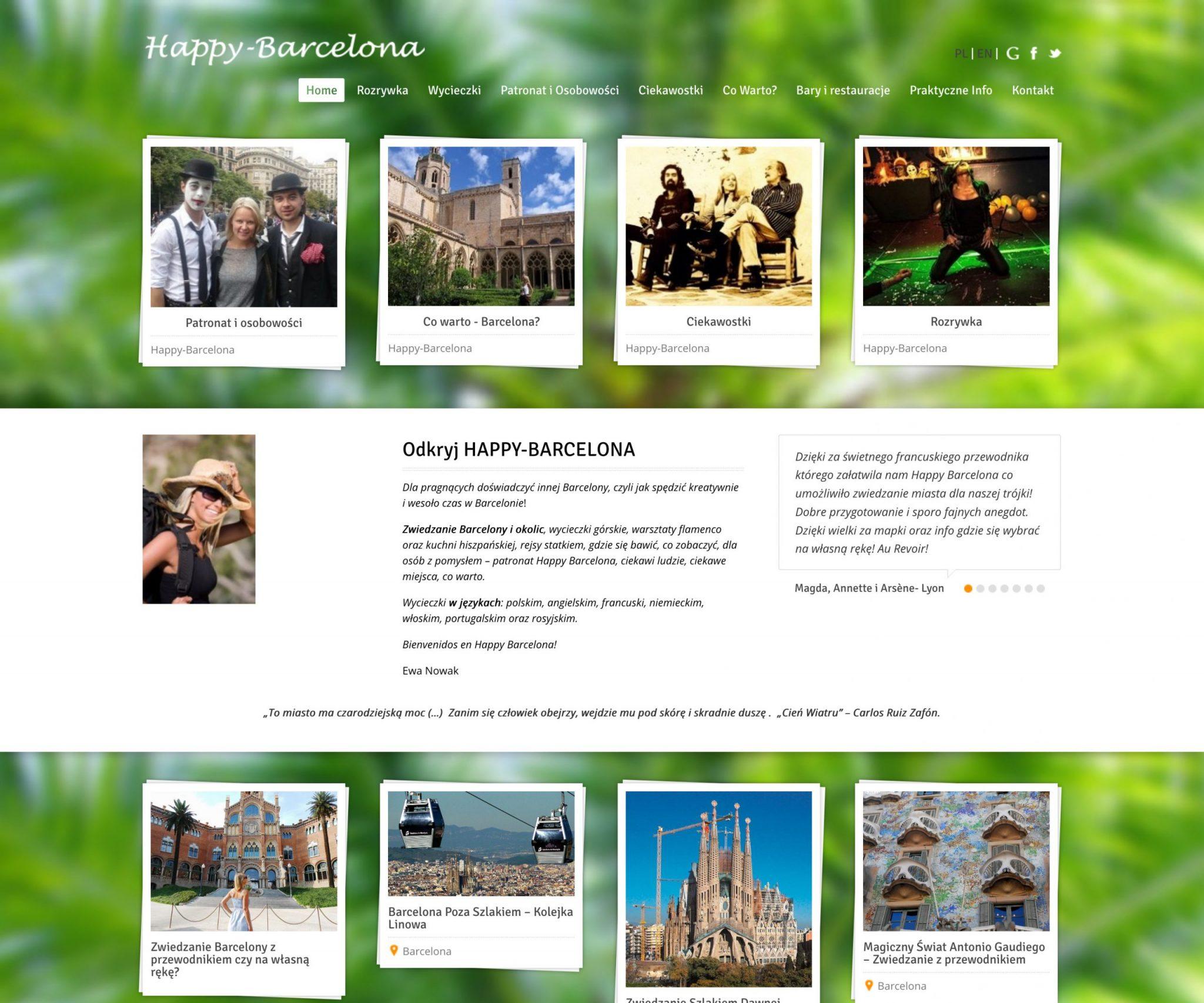 projekt strony intenetowej happy-barcelona.pl