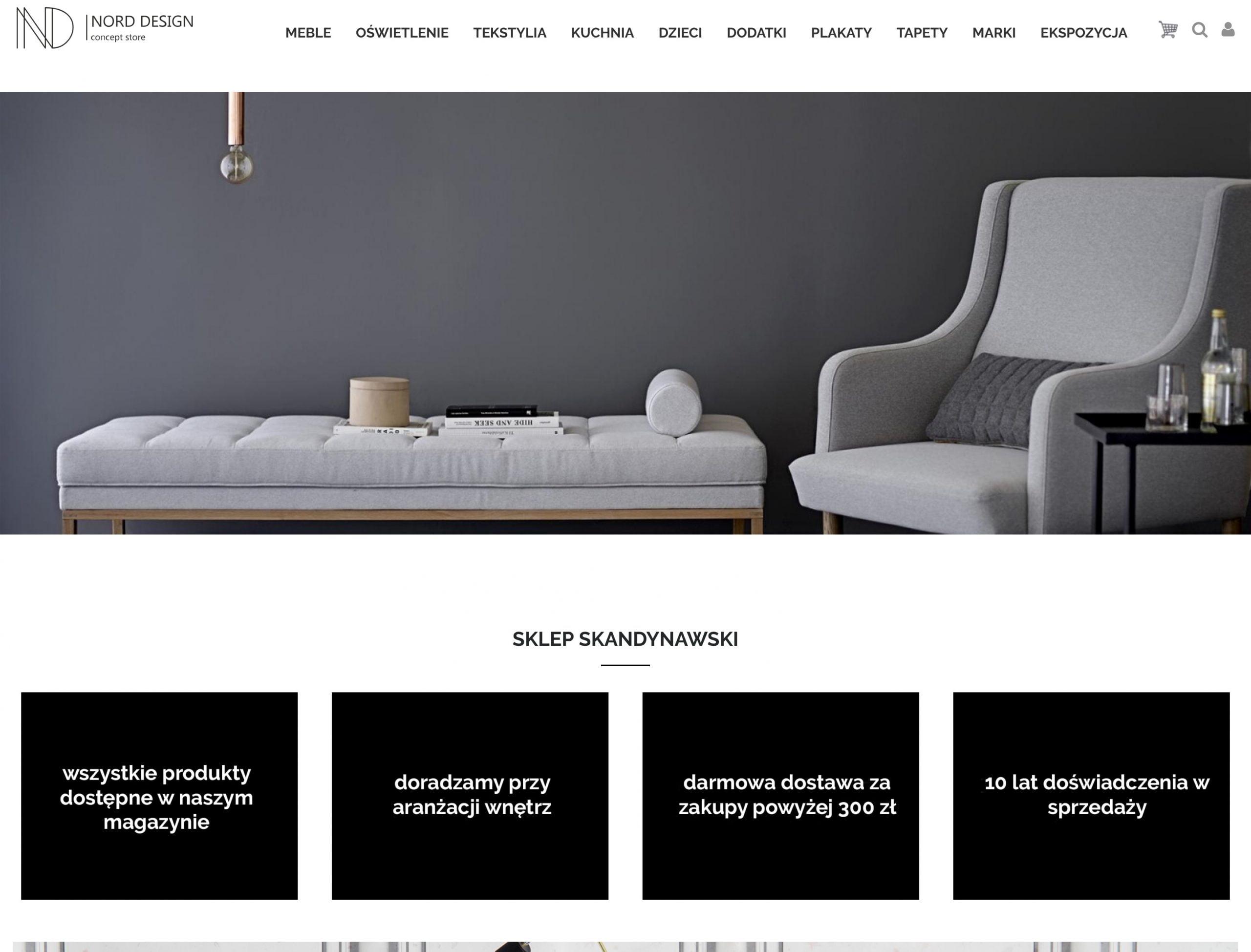 projekt strony intenetowej norddesign.pl