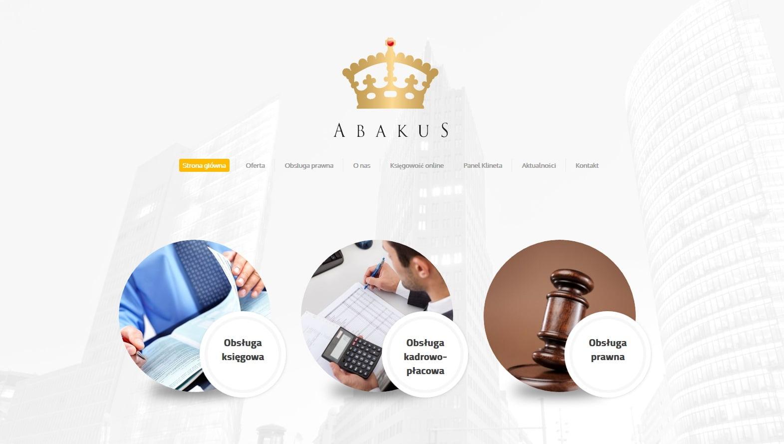 projekt strony intenetowej abakus.pl