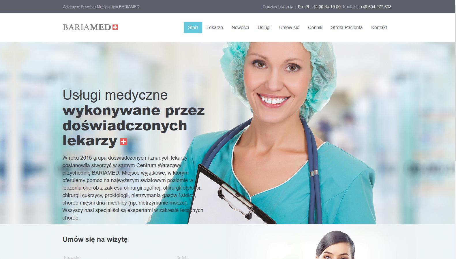 projekt strony intenetowej bariamed.pl