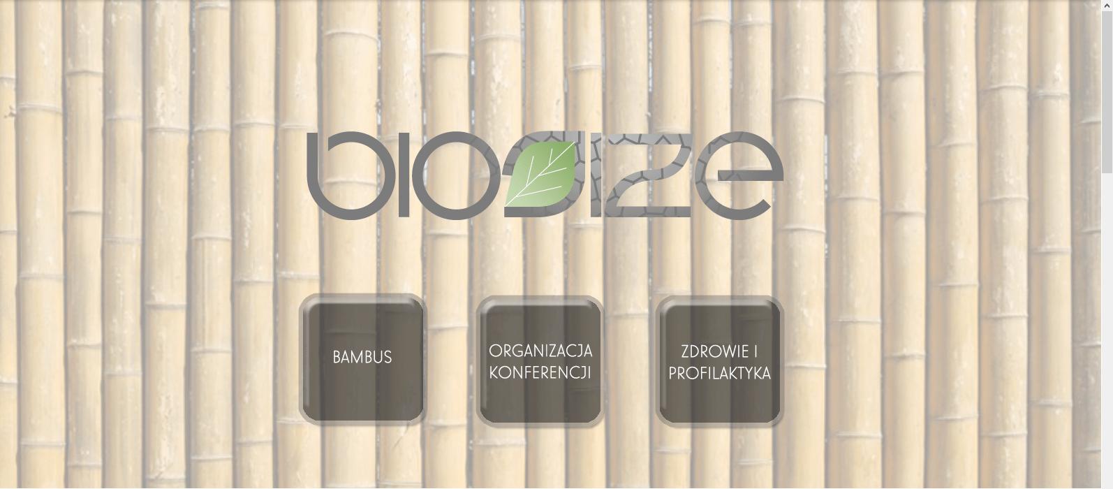 projekt strony intenetowej biosize.pl