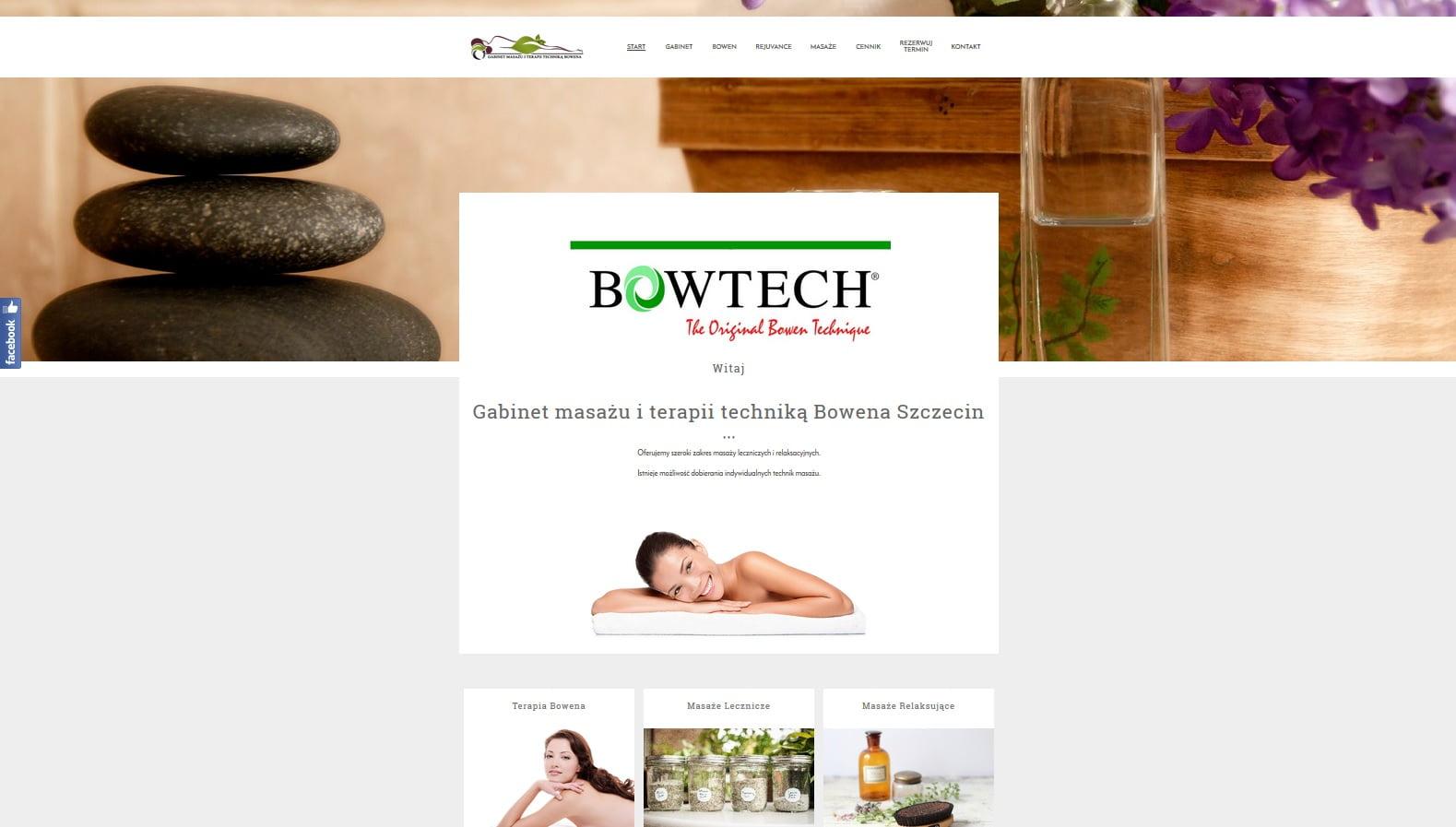 projekt strony intenetowej bowen.szczecin.pl