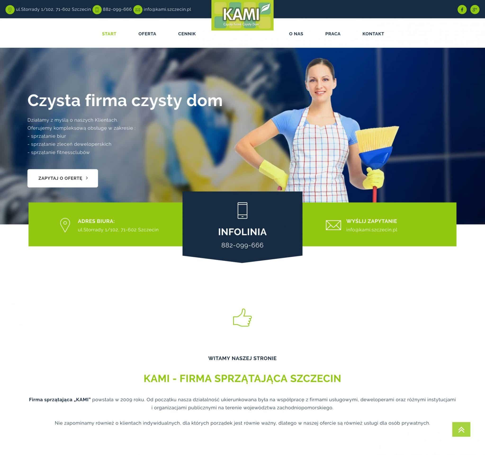 projekt strony internetowej kami.szczecin.pl