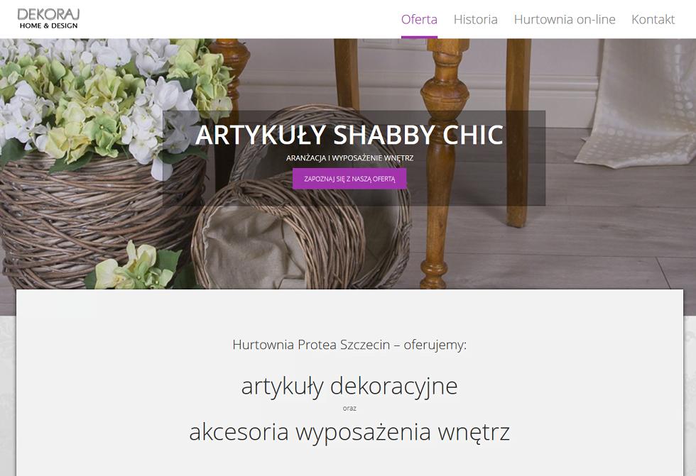 projekt strony intenetowej protea.pl