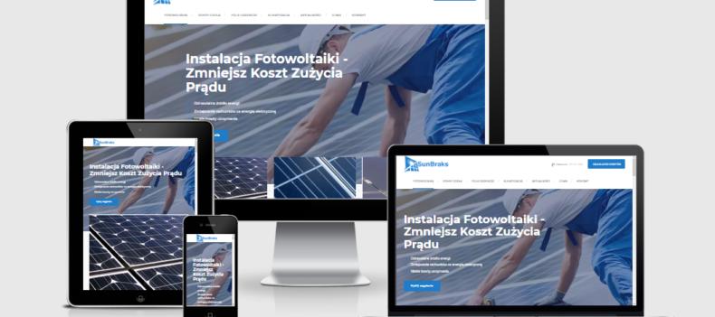 Realizacja projektu strony internetowej dla sunbraks.pl